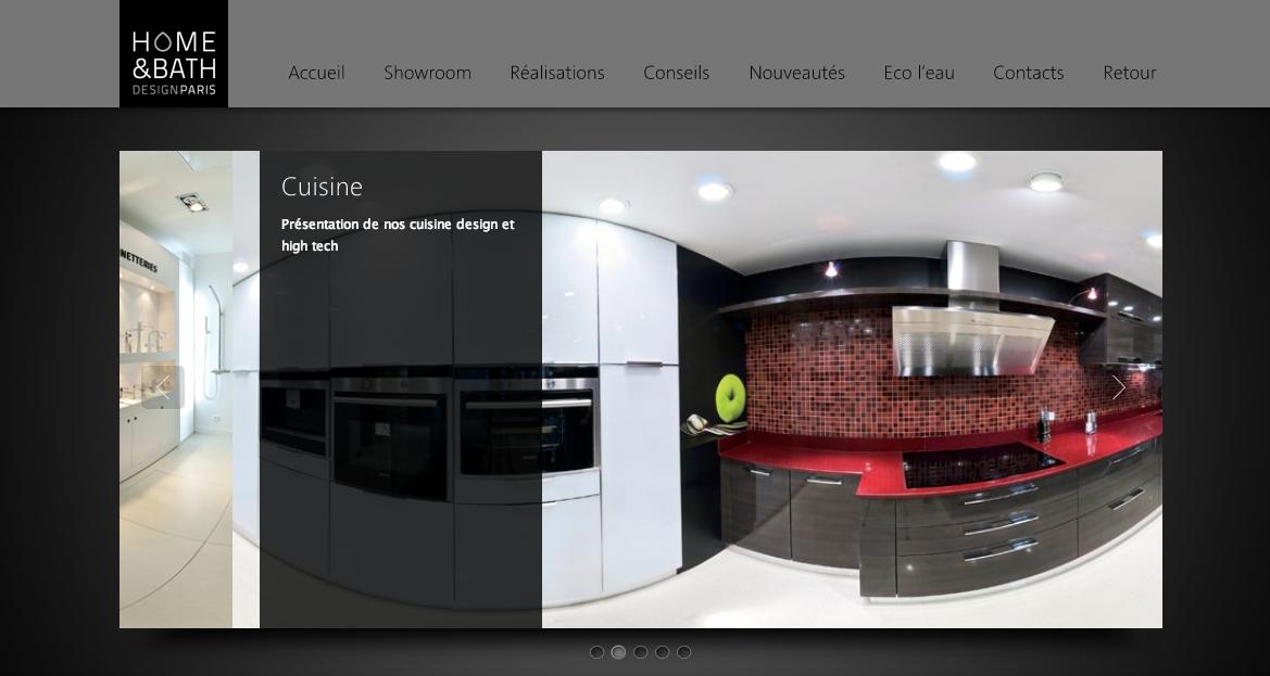 Réalisation du Showroom de visite virtuelle 360° de HBDESIGN PARIS
