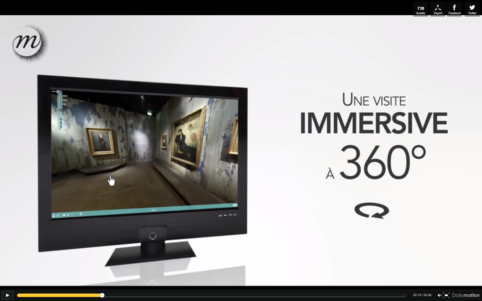 visite virtuelle 360° et vidéo pour musée