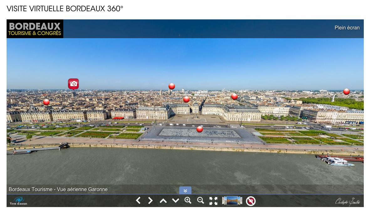 Une visite virtuelle 360° aérienne réalisée par la ville de Bordeaux